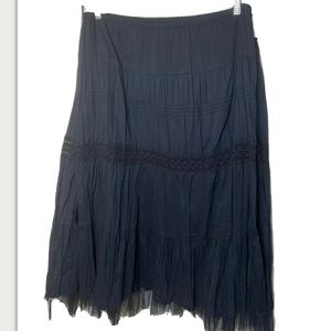 NWT Mossimo Black Crinkled Tiered Prairie Skirt 2X